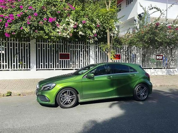 Bán ô tô Mercedes A class sản xuất năm 2017, màu xanh lục, nhập khẩu