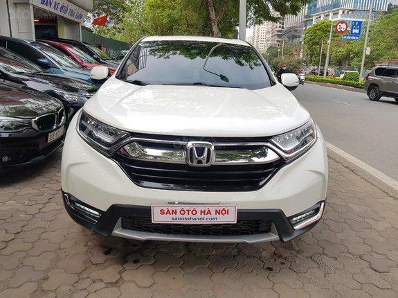 Sàn ô tô Hà Nội bán Honda CRV 1.5Turbo bản L sx 2018 màu trắng, xe tư nhân chính chủ