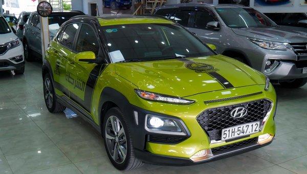 XE NGON GIÁ TỐT | Hyundai Kona 2019 1.6T màu xanh chuối độc đáo chờ chủ đón về giá chỉ 700 triệu.7
