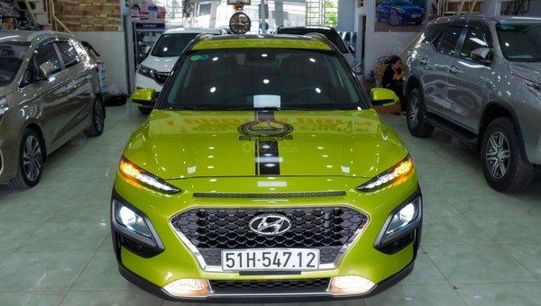 XE NGON GIÁ TỐT | Hyundai Kona 2019 1.6T màu xanh chuối độc đáo chờ chủ đón về giá chỉ 700 triệu.8