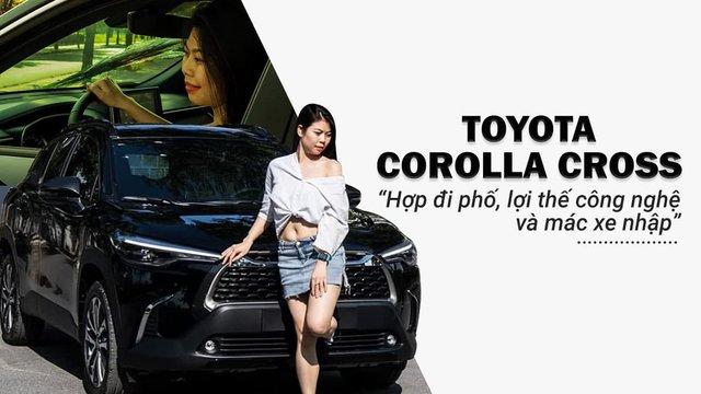 """Từng chạy Mercedes-Benz C200 và đang sở hữu Ford Ranger, Nữ 9X Hà Thành đánh giá xe Toyota Corolla Cross: """"Hợp đi phố, công nghệ và mác xe nhập là lợi thế"""""""