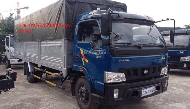 Bán xe tải Veam VT490, tải trọng 5 tấn, máy Hyundai, thùng dài 5.2M hoặc 6M - LH: 0936678689