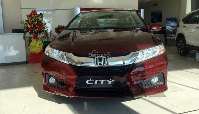 Cần bán Honda City năm 2016 màu đỏ, giá chỉ 583 triệu