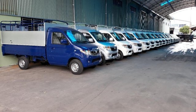 Bắc Ninh bán xe tải 990kg Kenbo thùng mui bạt, tay lái trợ lực điện, điều hòa theo xe, giá chỉ 170 triệu