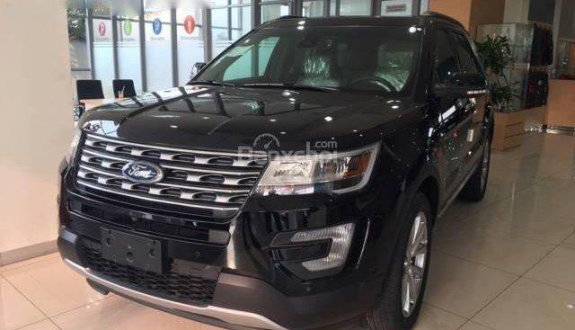 Bán Ford Explorer đời 2018, màu đen, đỏ, trắng, xám. Trả góp 80%