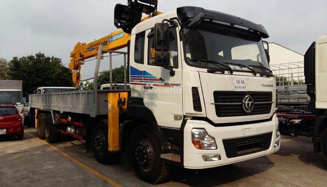 Xe tải Dongfeng 4 chân 18.7 tấn, gắn cẩu Kanglim 10 tấn