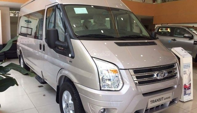 Bán Ford Transit Mid đời 2019, màu bạc - hỗ trợ trả góp lên tới 90% giá trị xe - vui lòng liên hệ Mr Trung: 0967664648