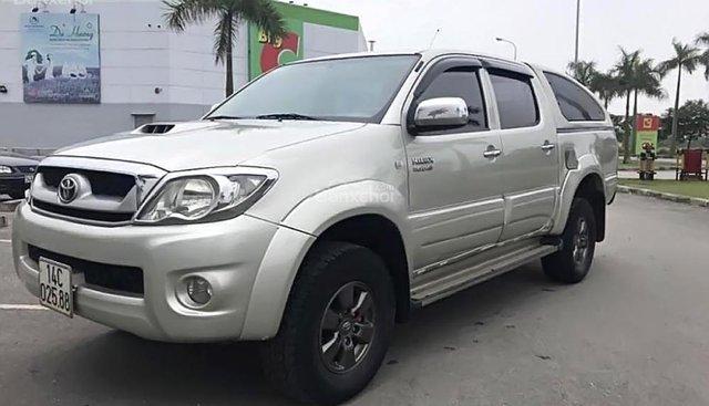 Cần bán lại xe Toyota Hilux 3.0G 4x4 MT đời 2009, màu bạc, nhập khẩu nguyên chiếc