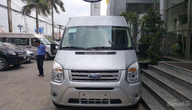 Hot Ford Transit 2018, màu bạc chỉ từ 100 triệu đồng tiền mặt, hỗ trợ trả góp lên tới 90% giá trị xe - LH 0967664648