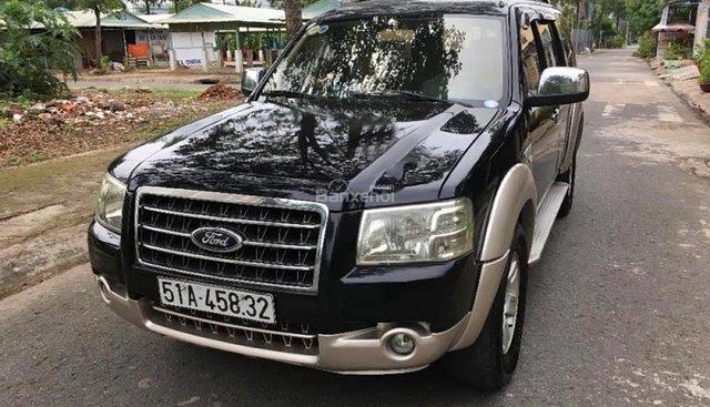 Bán Ford Everest năm sản xuất 2008, màu đen, giá chỉ 350 triệu