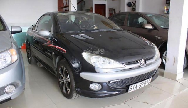 Bán Peugeot 206 CC 1.6 AT đời 2006, màu đen, nhập khẩu nguyên chiếc