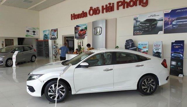 Đại lý Honda Ôtô Hải Phòng - Bán Honda Civic mới màu trắng nhập Thái giá tốt, giao ngay - Chi tiết LH: 0937282989