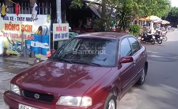 Cần bán gấp Suzuki Baleno đời 1996, màu đỏ, nhập khẩu nguyên chiếc giá cạnh tranh