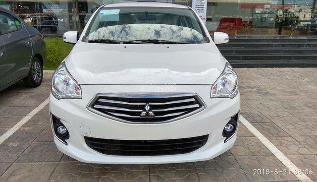 Bán xe 5 chỗ Mitsubishi Attrage CVT Eco màu trắng, xe có sẵn, giao ngay - LH: 0911821513