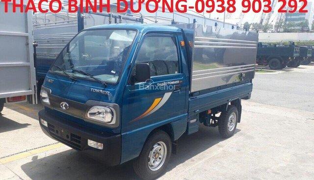 Bán Thaco Towner 800 thùng mui bạt tải trọng 900kg ở Bình Dương, trả góp 70%, giá 156 triệu, liên hệ 0938903292