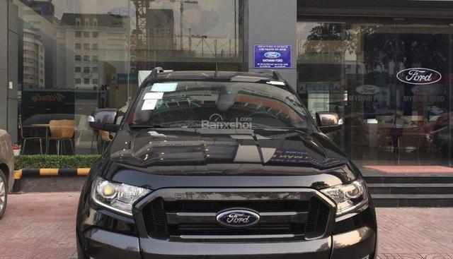 Cần bán Ford Ranger Wildtrak 2.0 Biturbo sản xuất năm 2019, màu đen, xe nhập, giá 870 triệu