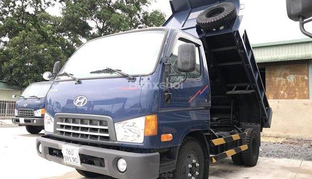 Bán xe ben Hyundai HD65 1,75 tấn + màu xanh + giá tốt + trả góp lãi suất thấp + bảo hành 3 năm