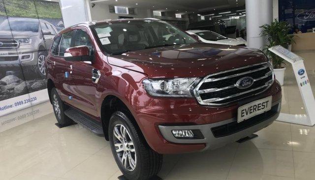 Cần bán Ford Everest Trend 2.0 AT sản xuất năm 2019, màu đỏ, nhập khẩu nguyên chiếc