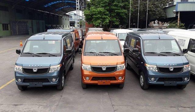 Cần bán xe Kenbo Van 5 chỗ 650kg, xe màu cam, trả góp 80% giá trị