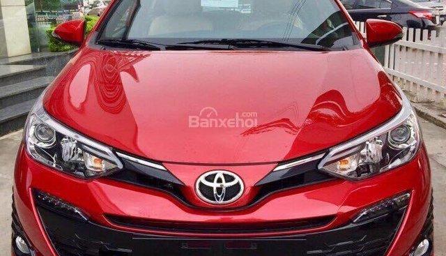 Bán Toyota Yaris model 2019 màu đỏ tại Toyota Hải Dương giá tốt, LH 0906 34 11 11 Mr Thắng
