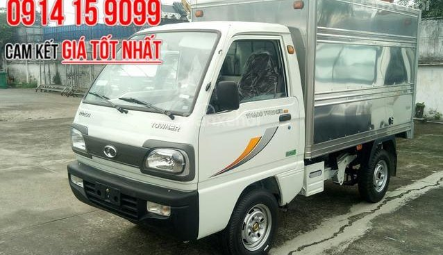 Bán ô tô Thaco Towner 800 năm 2018 tại Bình Dương, thùng kín 850kg, trả trước 50tr lấy xe, liên hệ 0938903292