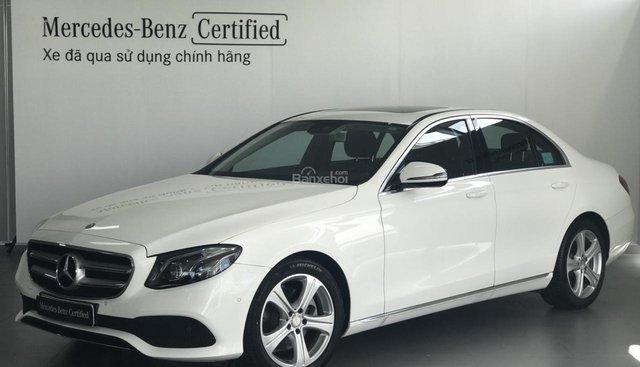 Bán Mercedes E250 2018 - xe đã qua sử dụng chính hãng, màu trắng - tiết kiệm ~239 triệu