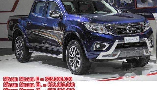 Bán ô tô Nissan Navara EL đời 2018, màu xanh lam, nhập khẩu Thái, giá 669tr