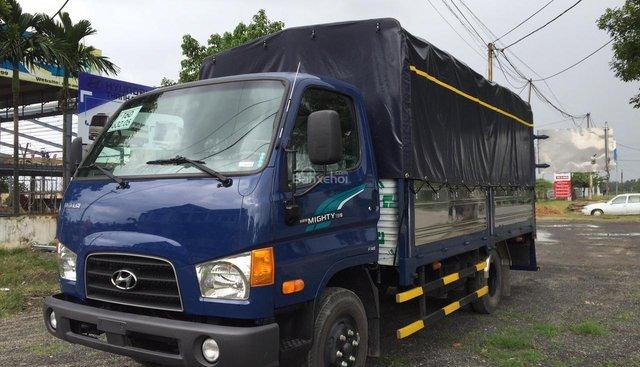 Bán xe tải Hyundai New Mighty 75S mui bạt, khuyến mãi lên đến 10 triệu đồng, giao xe toàn quốc