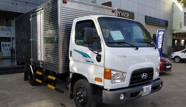 Bán xe tải Hyundai New Mighty 75S 2018, màu trắng, thùng kín inox, giảm giá lên đến 15 triệu, có sẵn xe