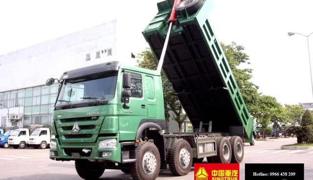 Bán xe tải ben Howo 4 chân, 17 tấn, giá 1.165 tỷ, KM 2% thuế trước bạ