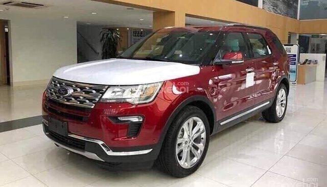Bán xe Ford Explorer Explorer 2.3L Limited năm 2019, màu đỏ, nhập khẩu, sẵn xe giao ngay