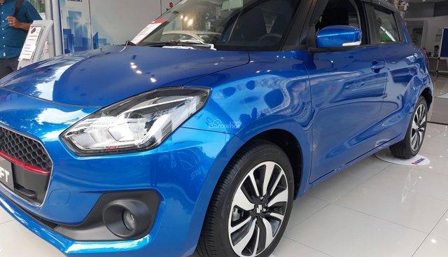 Cần bán Suzuki Swift GLX sản xuất 2018, màu xanh lam, xe nhập, 499 triệu