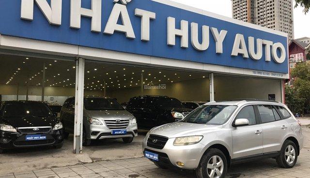 Bán Hyundai Santa Fe 2.7AT đời 2007, màu bạc, nhập khẩu