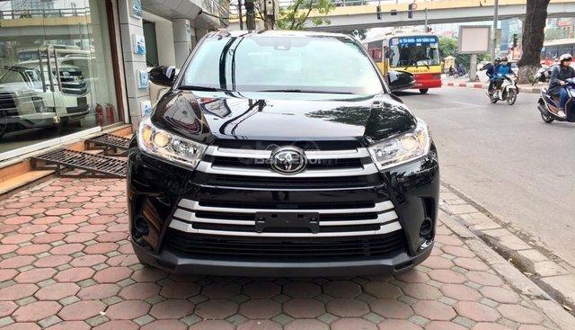 Bán xe Toyota Highlander LE năm 2017, màu đen, nhập khẩu Mỹ, LH em Hương: 0945392468
