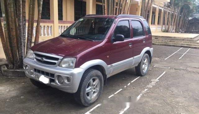 Bán xe Daihatsu Terios MT 4WD 1.3 đời 2004, máy xăng 2 cầu điện, màu đỏ, biển HN