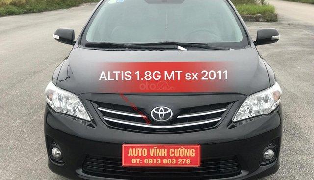 Bán xe Toyota Corolla Altis 1.8G MT năm 2011, màu đen
