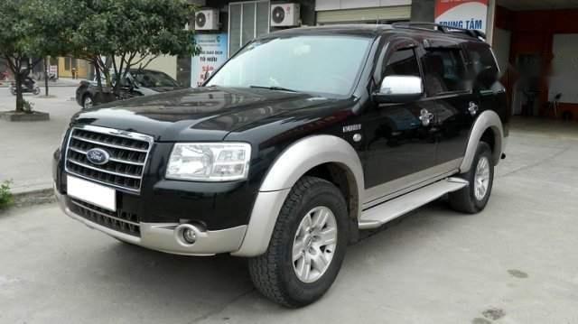 Cần bán gấp Ford Everest sản xuất 2008, màu đen, nhập khẩu nguyên chiếc