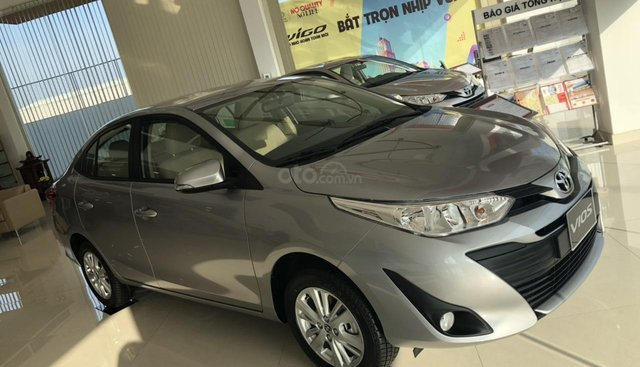 Bán Toyota Vios 1.5E CVT đời 2019, màu bạc, hỗ trợ vay 85%, thanh toán 130tr nhận xe, lãi 0,6%/tháng