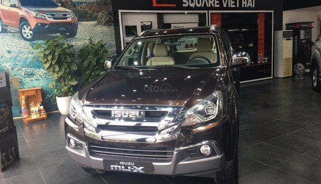 Cần bán Isuzu mu-X 3.0 (4x4) AT 2018, màu nâu, xe nhập khuyến mại 30 triệu