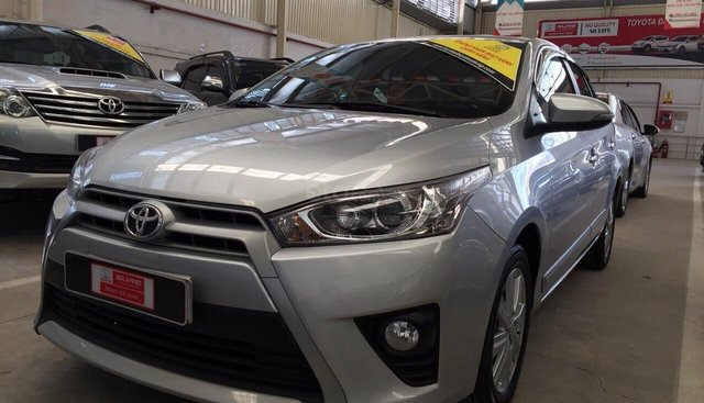 Bán Yaris G 2016, xe chạy lướt 7500km, bảo hành chính hãng, bao kiểm tra tại hãng Toyota