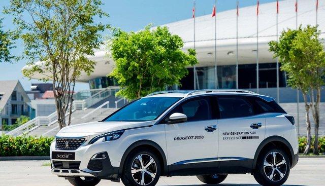 Peugeot Bình Tân, Peugeot 3008 nhận xe ngay - đủ màu - trả trước 390 triệu - bảo dưỡng 3 năm miễn phí