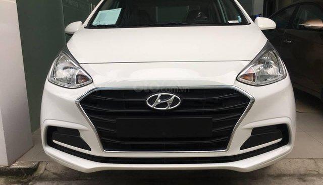 Bán xe Hyundai Grand I10 màu trắng 2019, giá chỉ 380tr. Liên hệ 0918424647