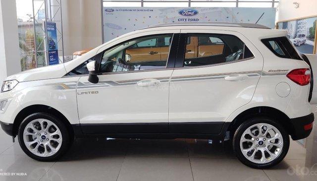 Bán Ford EcoSport Titanium, mới 100%, màu trắng, giá 648tr- Miễn phí chi phí dịch vụ lăn bánh toàn quốc