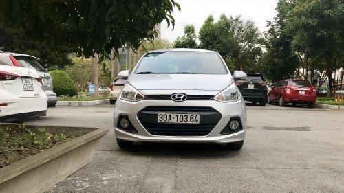 Bán Hyundai Grand i10 1.0 MT 2014, màu bạc, giá tốt
