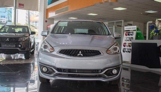 Bán ô tô Mitsubishi Mirage đời 2019, màu bạc, nhập khẩu nguyên chiếc