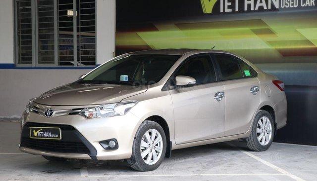 Bán Toyota Vios E 1.5MT 2016, màu vàng, giá 468tr