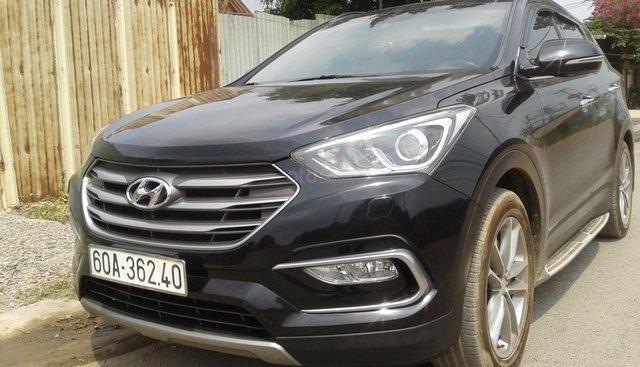 Bán Hyundai Santa Fe 2.4 4x4 full, năm sản xuất 2016, màu đen