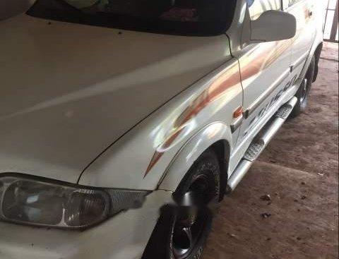 Bán ô tô Ssangyong Musso 2001, màu trắng, máy dầu