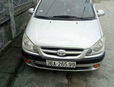 Bán Hyundai Getz sản xuất 2008, màu bạc, xe nhập, giá chỉ 180 triệu