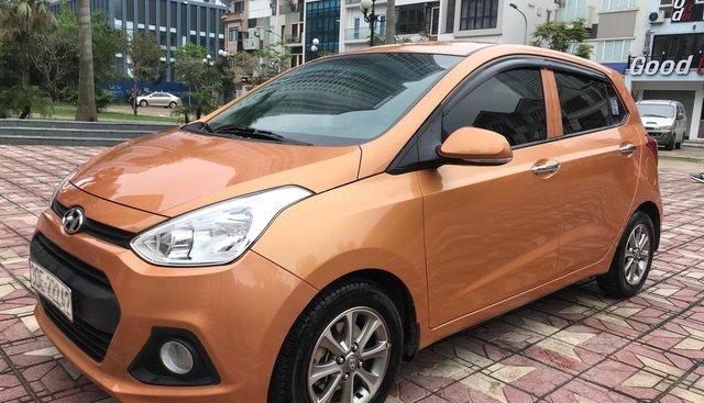 Cần bán xe Hyundai Grand i10 1.0 MT năm sản xuất 2015, màu cam, xe nhập, giá tốt